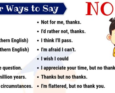 No Synonym | 60 Useful Ways to Say NO in English 6