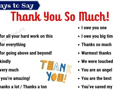 Thank You Synonym | 45+ Powerful Synonyms for Thank You for ESL Learners 6