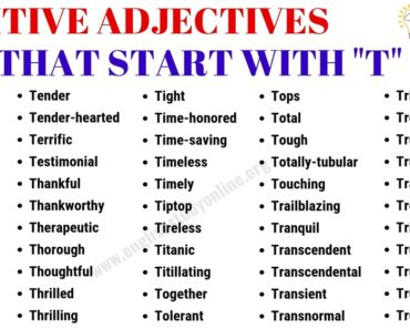 List of 65+ Positive Adjectives That Start with T in English 6