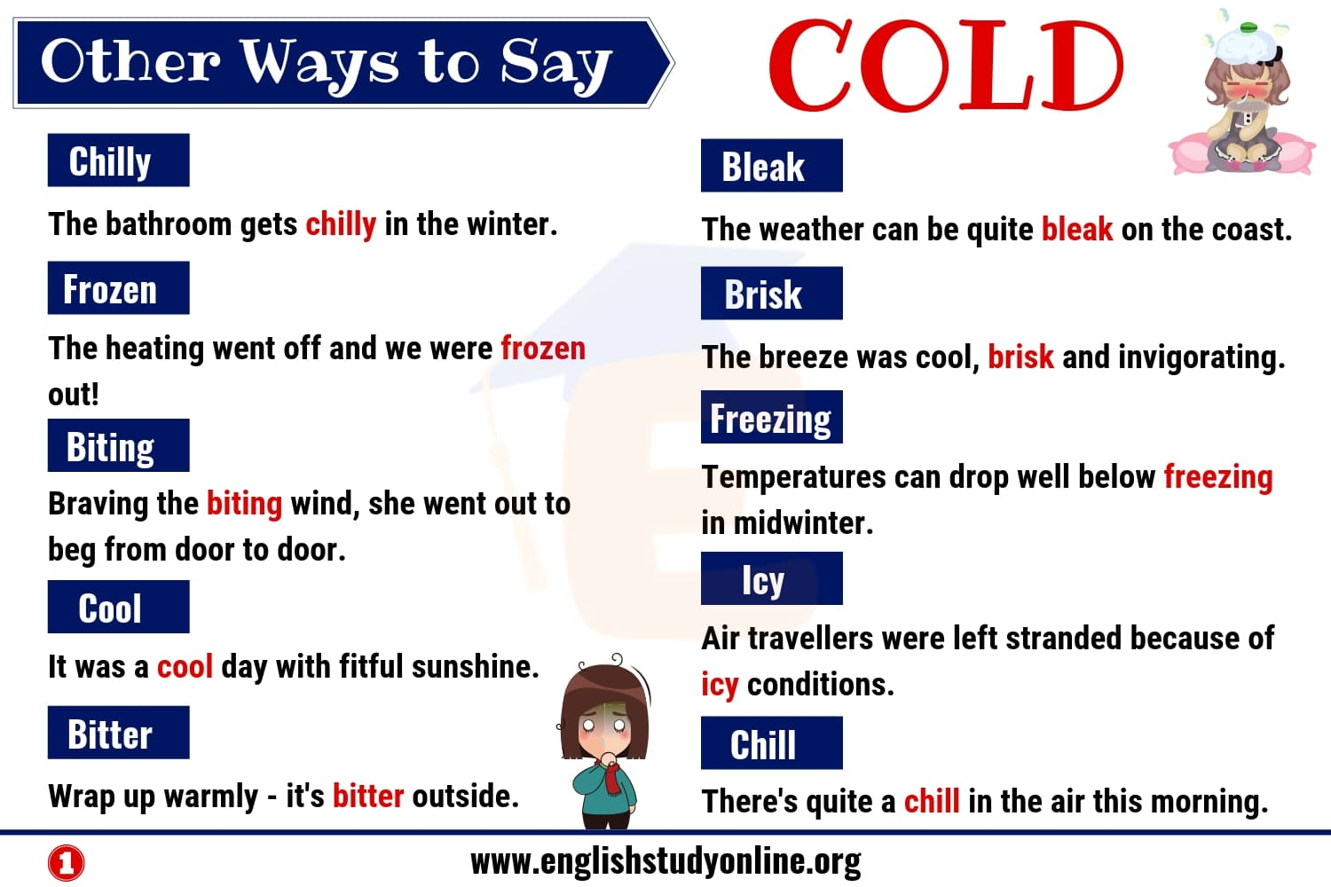 Cold Synonyms