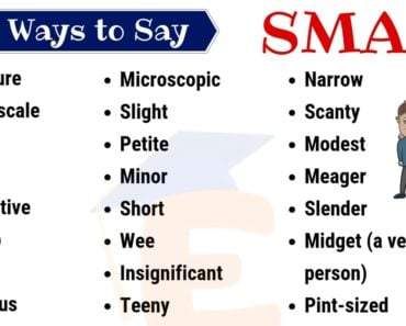 Small Synonym: List of 35 Helpful Synonyms for SMALL with Example Sentences 4