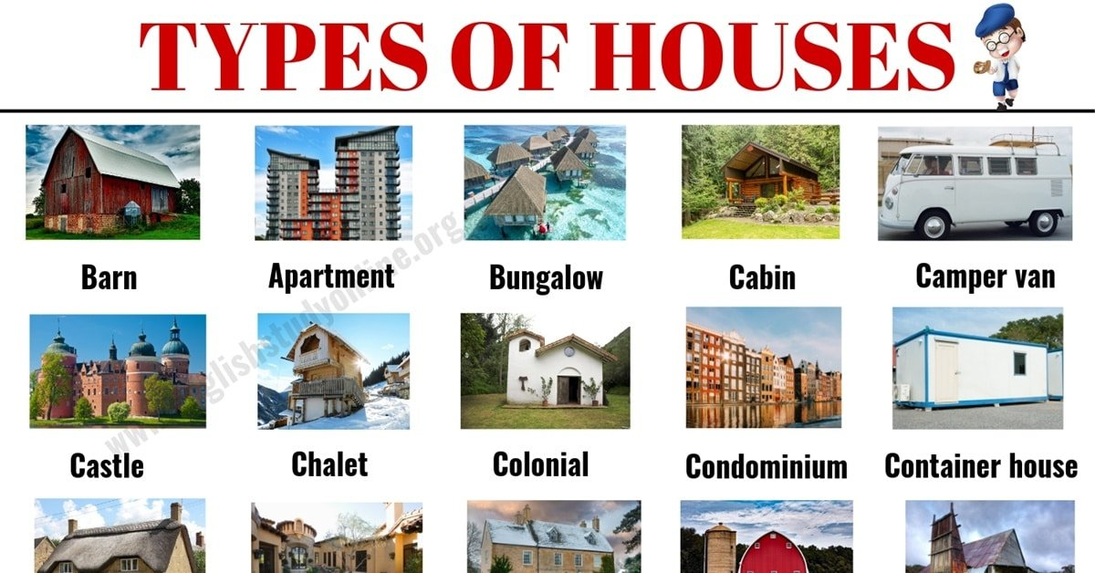Types Of Houses 30 Por With Pictures And