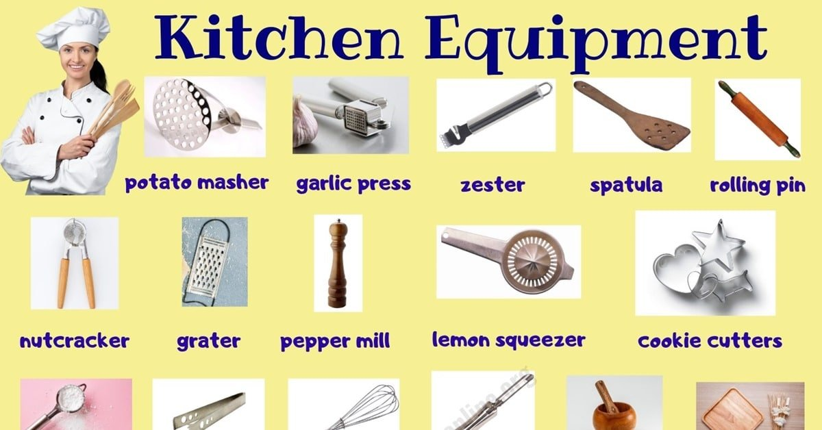 Kitchen Equipment: Useful List of 55+ Kitchen Utensils with Picture 1