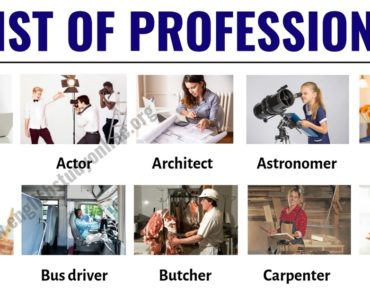 List of Jobs: List of 60 Popular Professions & Jobs in English 6