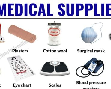 Medical Supplies: Useful List of 30 Medical Equipment in English 3