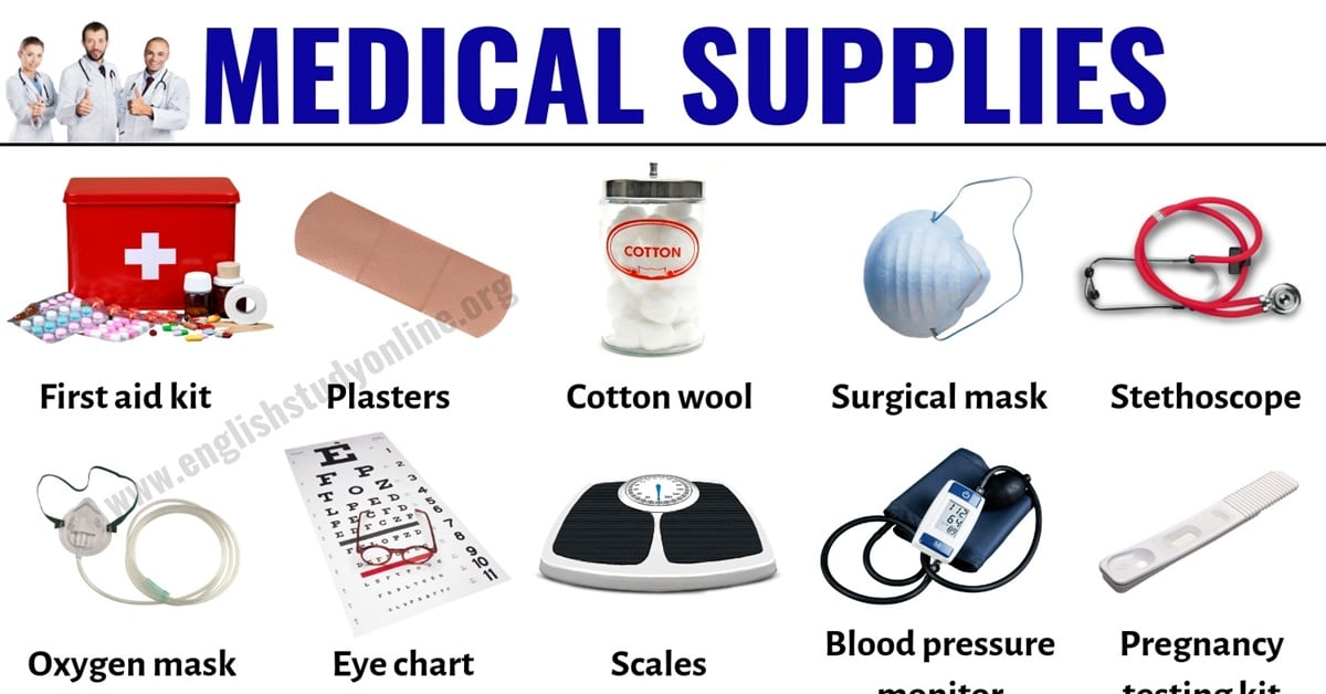 Medical Supplies: Useful List of 30 Medical Equipment in English 1