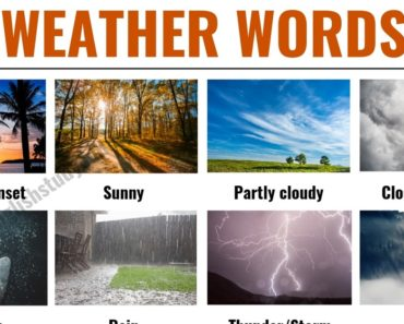 Weather Words: Useful List of English Weather Words and Vocabulary 4