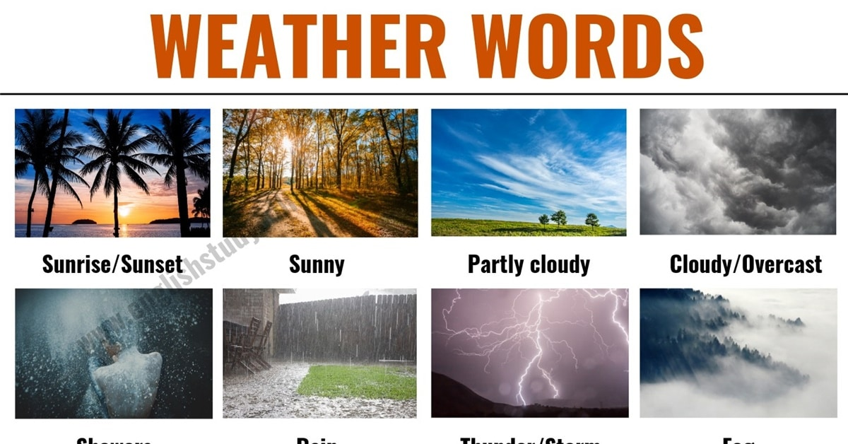 Weather Words: Useful List of English Weather Words and Vocabulary 1