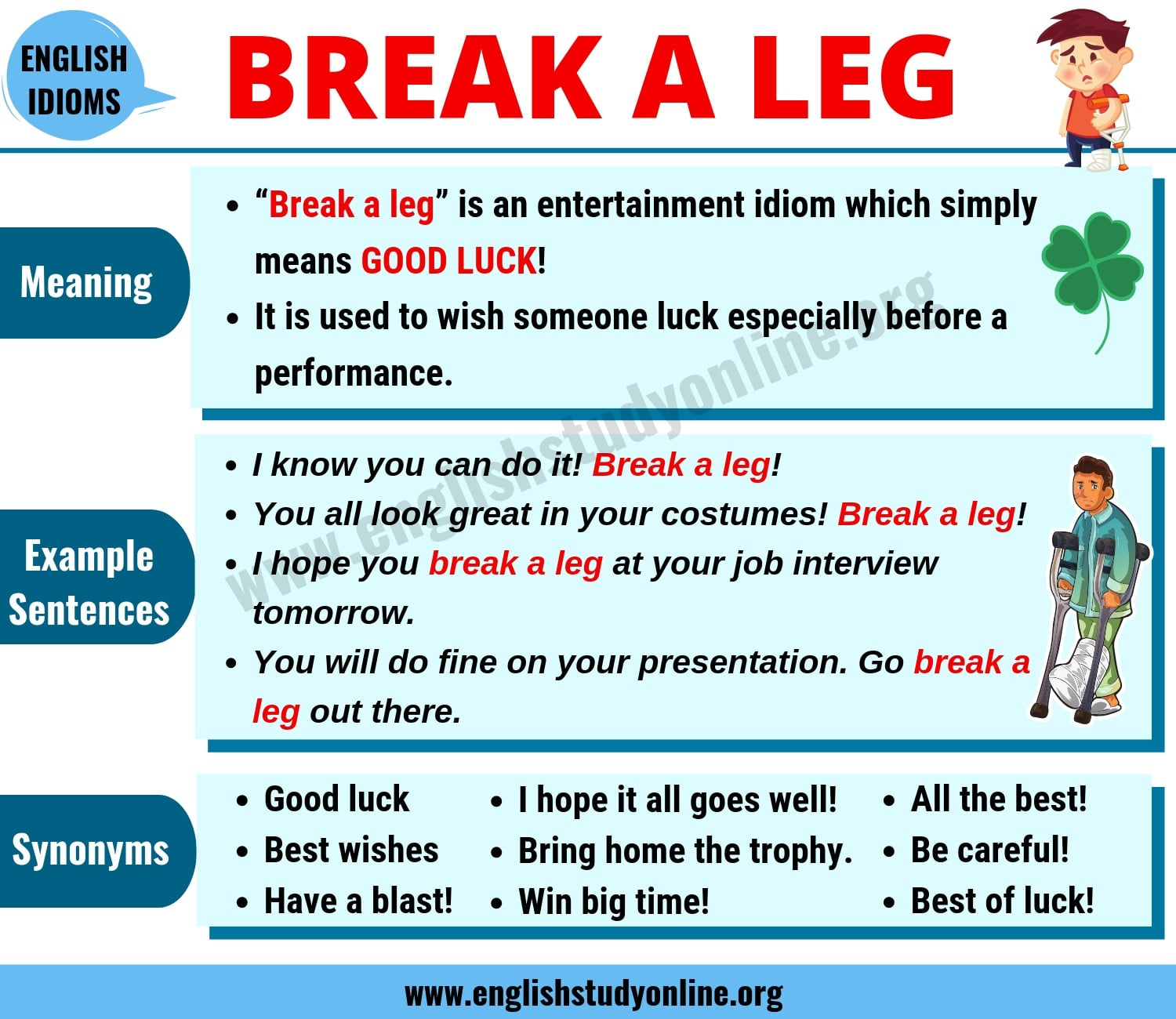 "Break A Leg: What Does ""Break A Leg"" Mean? 