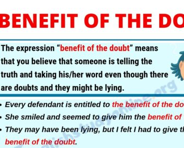 Benefit of the Doubt: Meaning, Useful Examples with Synonyms List in English 6
