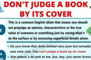 Don't Judge A Book By Its Cover | Meaning, Useful Examples & Synonyms 9