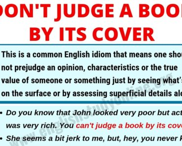 Don't Judge A Book By Its Cover | Meaning, Useful Examples & Synonyms 3