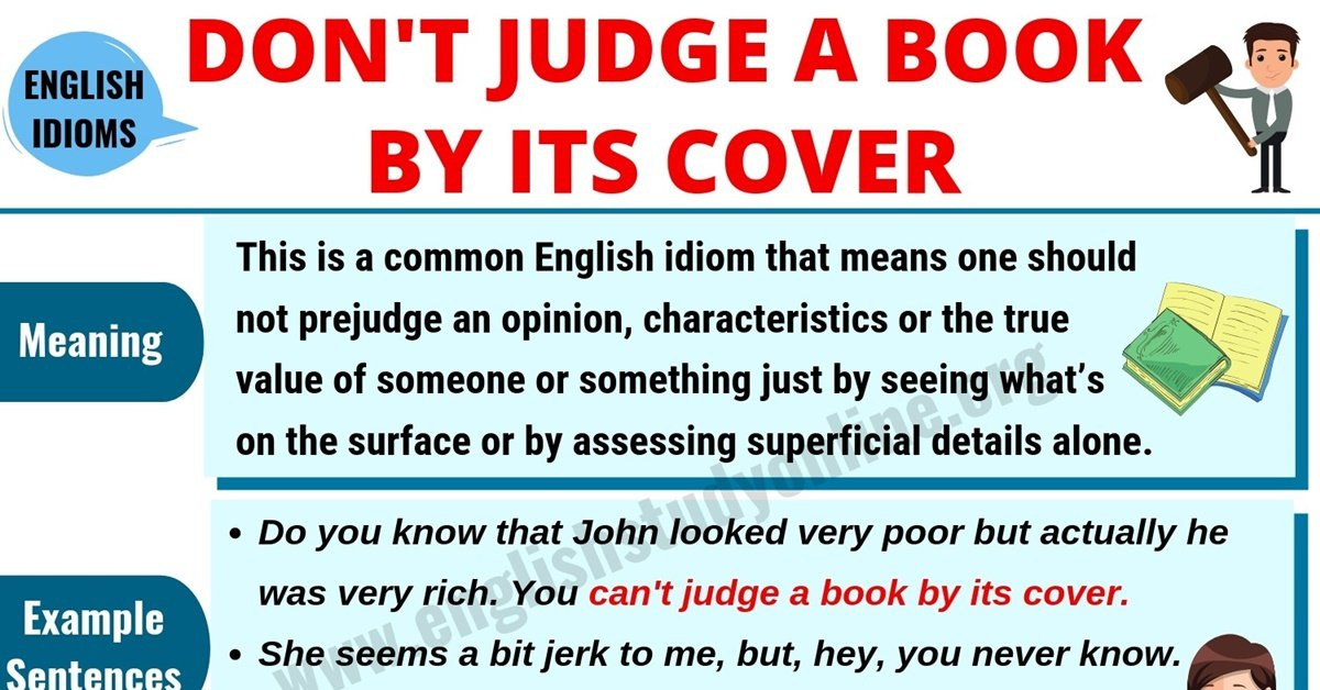 Don't Judge A Book By Its Cover | Meaning, Useful Examples & Synonyms 5