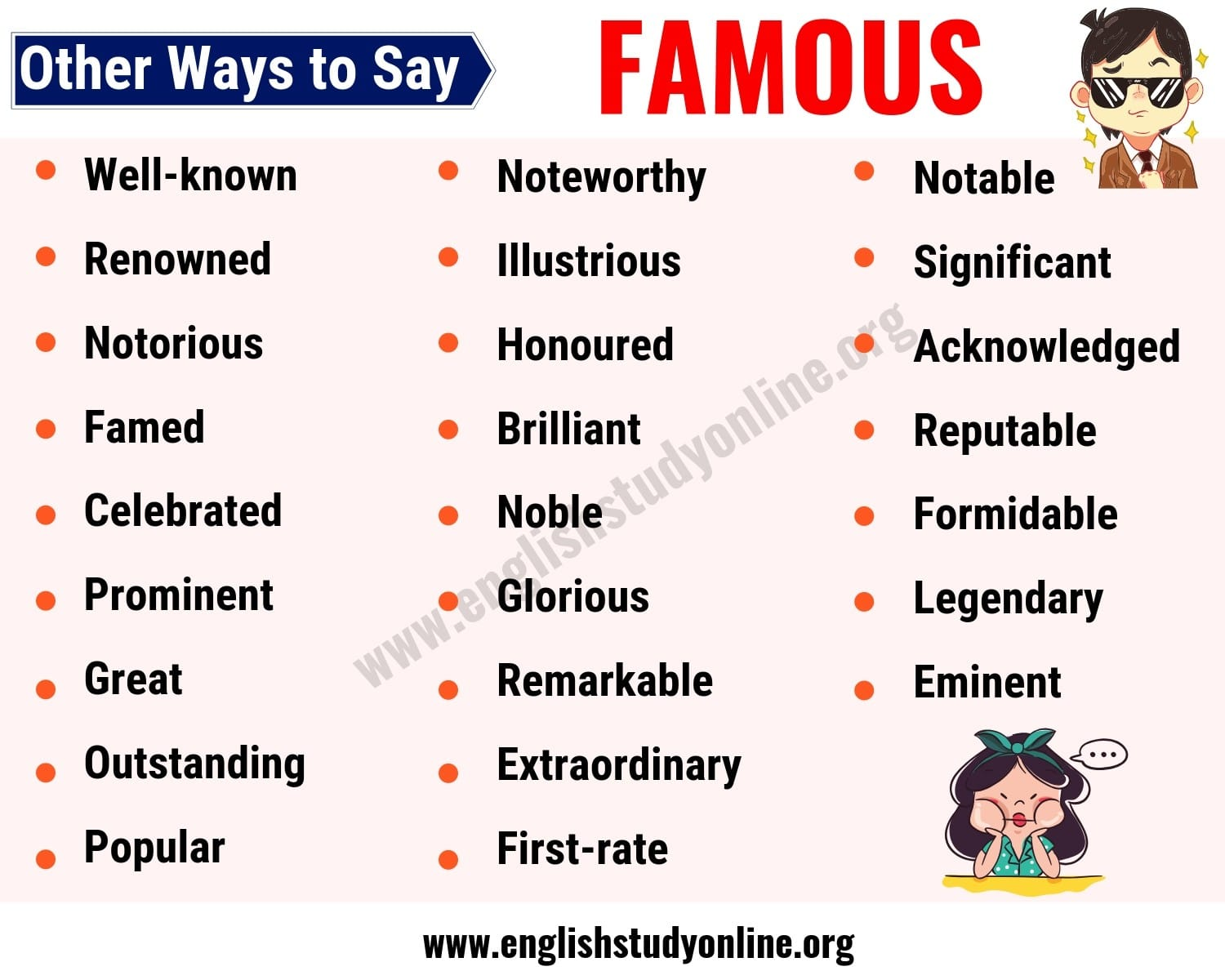 Famous Synonym