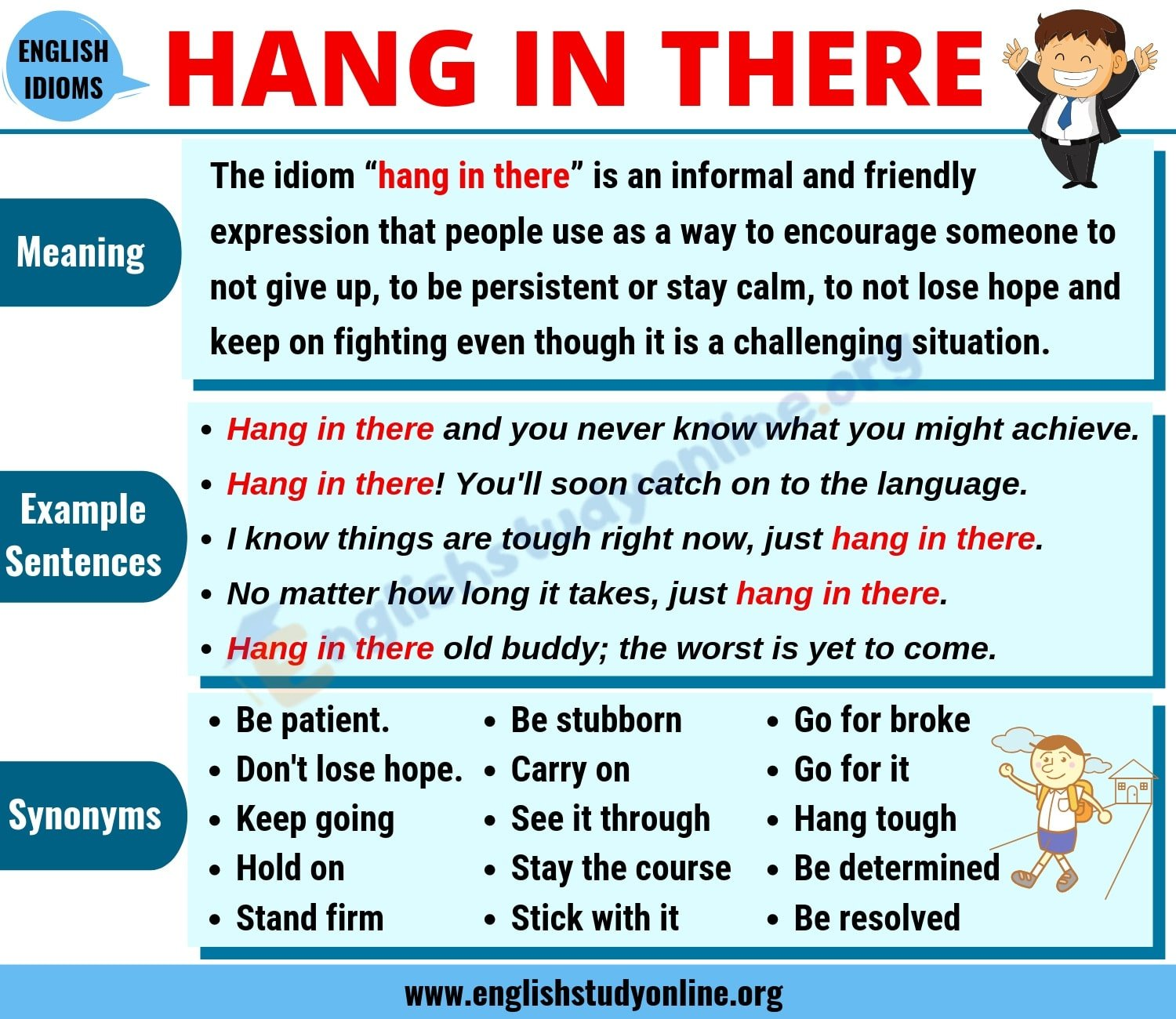 Hang In There: Definition, Useful Conversation Examples