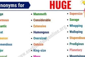 Huge Synonyms: List of 25+ Useful Synonyms for Huge in English 2