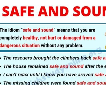 Safe and Sound: Definition, Useful Examples and Synonyms List 2