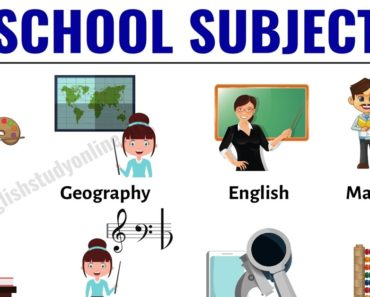 School Subjects: Learn 16 Popular Names of School Subjects in English 3
