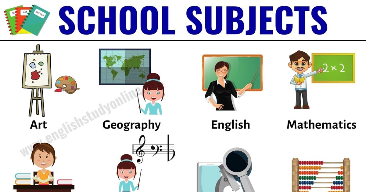 School Subjects: Learn 16 Popular Names of School Subjects in English 1