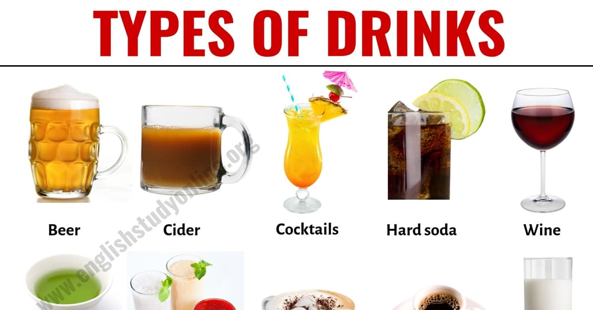 Types of Drinks: List of 20 Popular Drink Names with Their Pictures 1