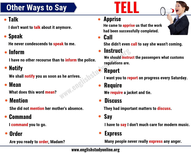tell synonym