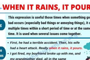 When It Rains It Pours: Learn Definition, Useful Examples & List of Synonyms 8
