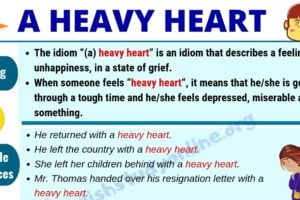 (A) Heavy Heart: Definition with Useful Examples & Synonyms List 12