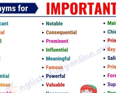 IMPORTANT Synonym: 40 Useful Words to Use Instead of IMPORTANT 4