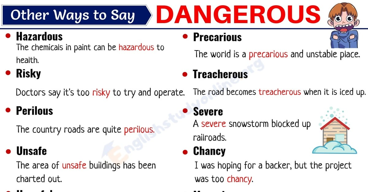 DANGEROUS Synonym: List of 20+ Useful Synonyms for Dangerous in English 1