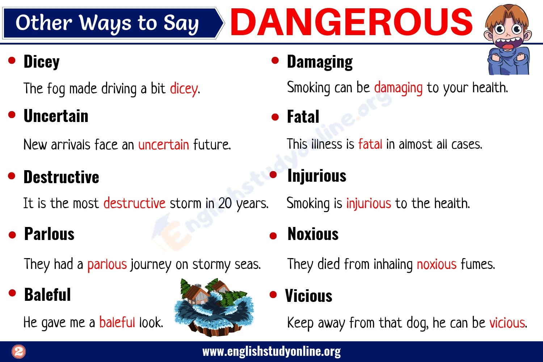 DANGEROUS Synonym