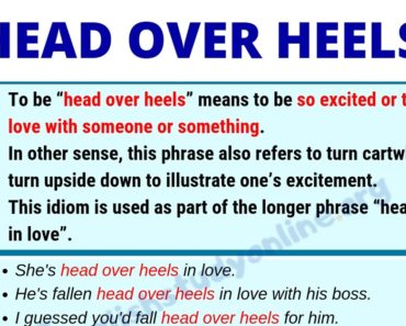 Head Over Heels: Definition, Useful Examples & Synonyms List 5