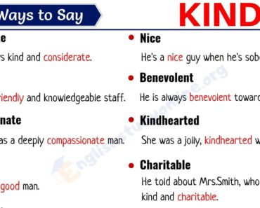 Kind Synonym: List of 25 Useful Synonyms for KIND with Examples 5