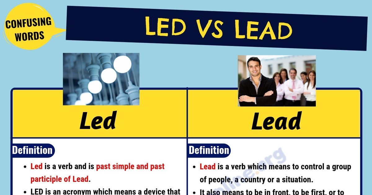 Led vs Lead: What is The Main Difference Between Lead vs Led? 1