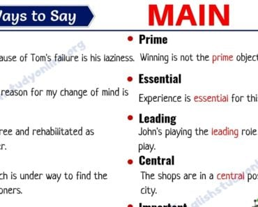 Main Synonym: 25 Useful Words to Use Instead of MAIN in English 2