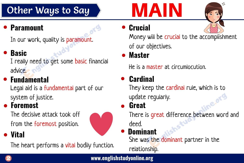 Main Synonym