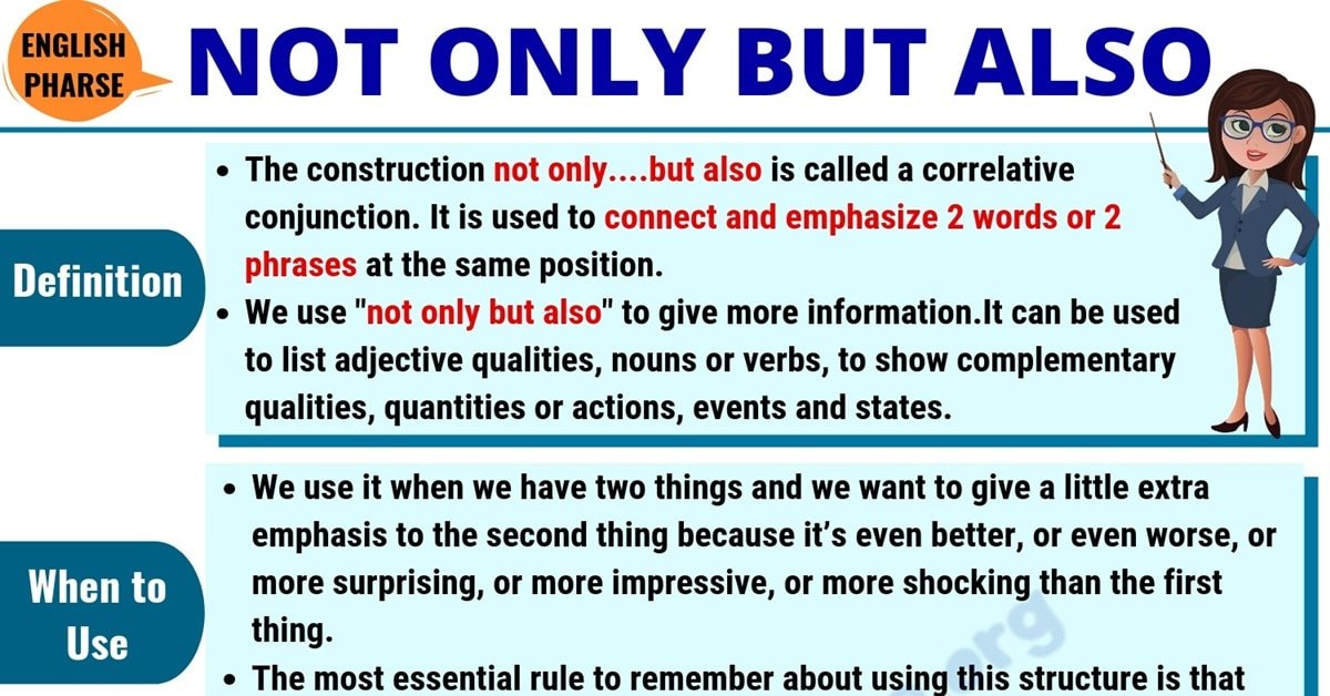 Not Only But Also: Definition, Usage & Useful Examples in English 1