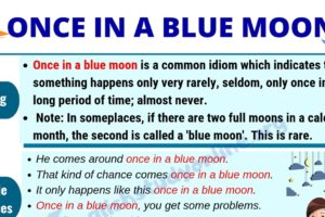 Once In A Blue Moon: Definition & Useful Examples in English 10