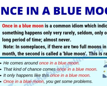 Once In A Blue Moon: Definition & Useful Examples in English 6