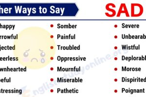 SAD Synonym: List of 35 Useful Synonyms for SAD in English 12