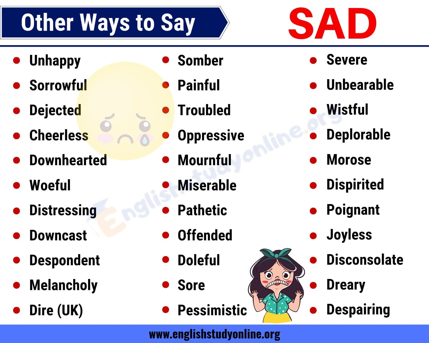 SAD Synonym