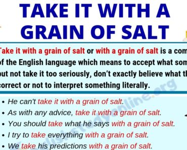 Take It With A Grain of Salt: Definition, Origin & Useful Examples 7