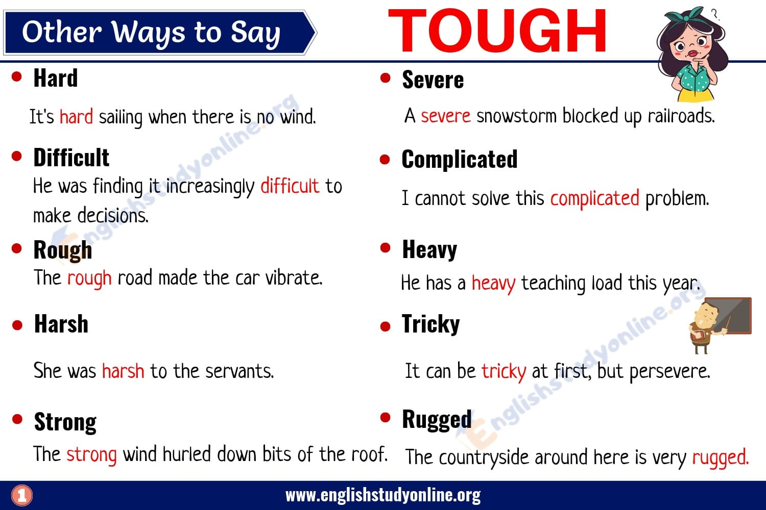 Tough Synonym: List of 25+ Useful Words to Use Instead of
