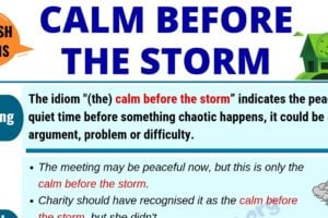 Calm Before the Storm: Definition, Origin & Useful Examples in English 5