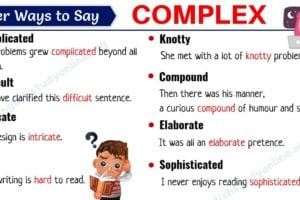 Complex Synonym: List of 20 Useful Synonyms for COMPLEX 9