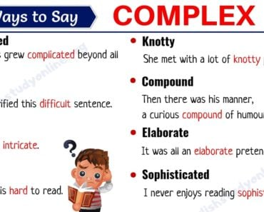 Complex Synonym: List of 20 Useful Synonyms for COMPLEX 3