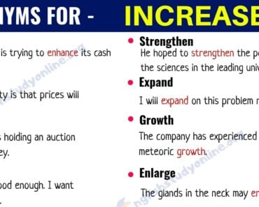 Increase Synonym: List of 20+ Useful Synonyms for the Word INCREASE 6