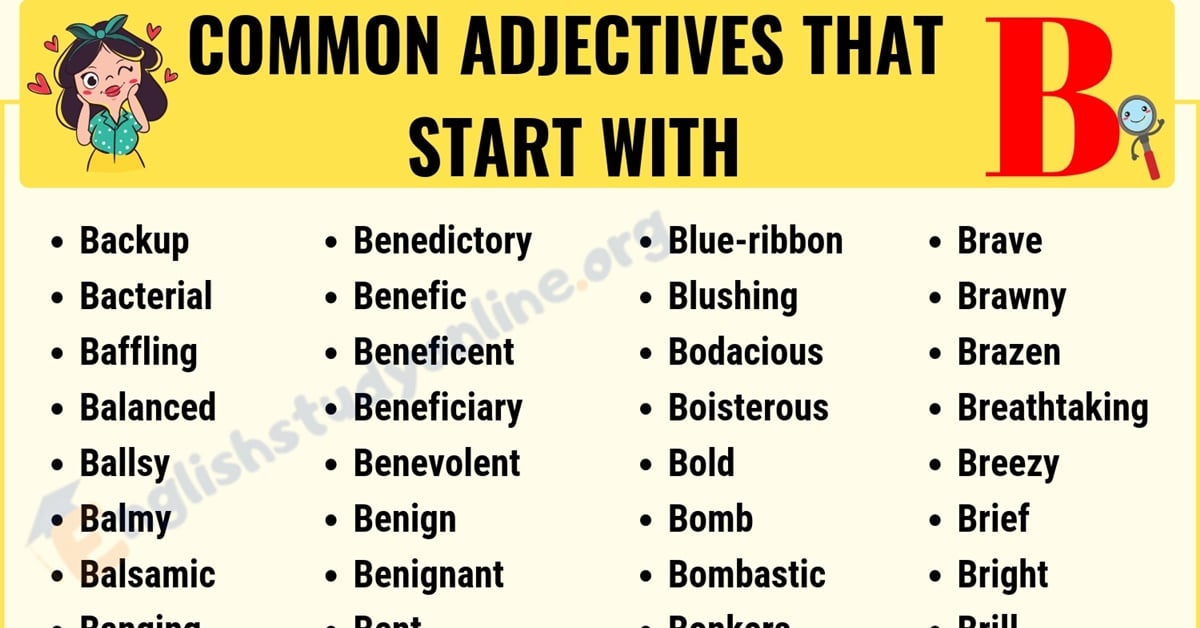 60+ Popular Adjectives That Start with B with Useful Examples 1