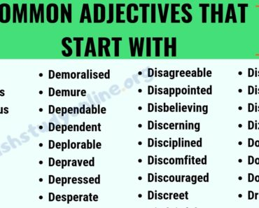 A Huge List of 100+ Adjectives That Start with D with ESL Image 7