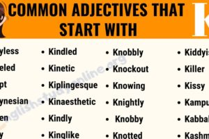 70 Interesting Adjectives That Start with K with Useful Examples 5