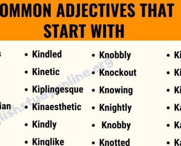 70 Interesting Adjectives That Start with K with Useful Examples 2